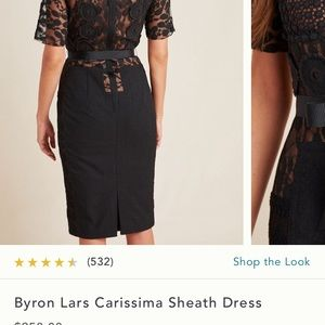 Anthropologie Byron Lars Sheath Dress